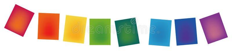 颜色梯度纸张 库存例证