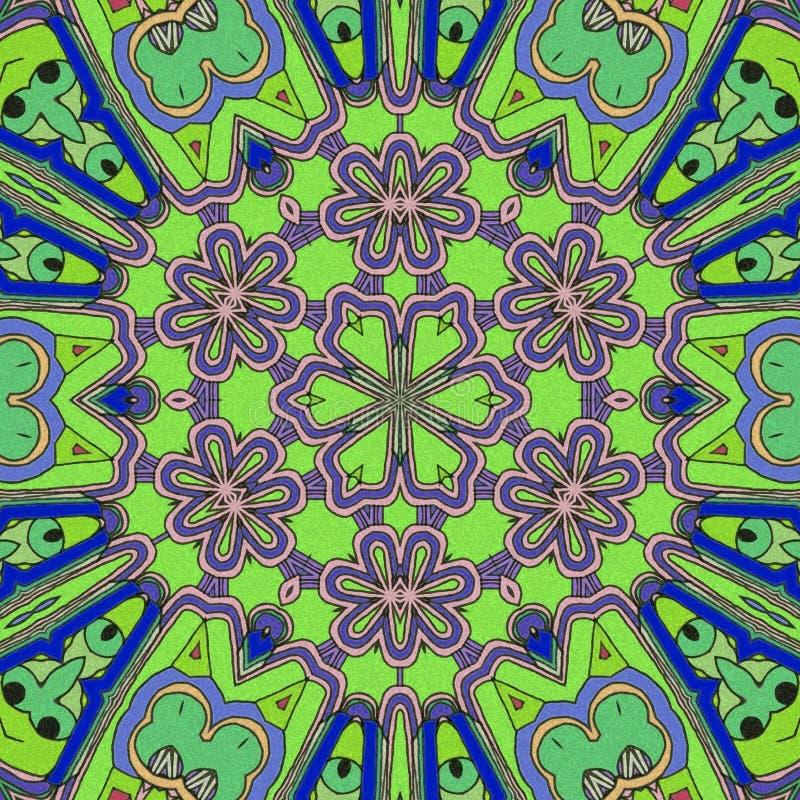 颜色比赛  抽象凹道滑行 io面孔和花 库存例证