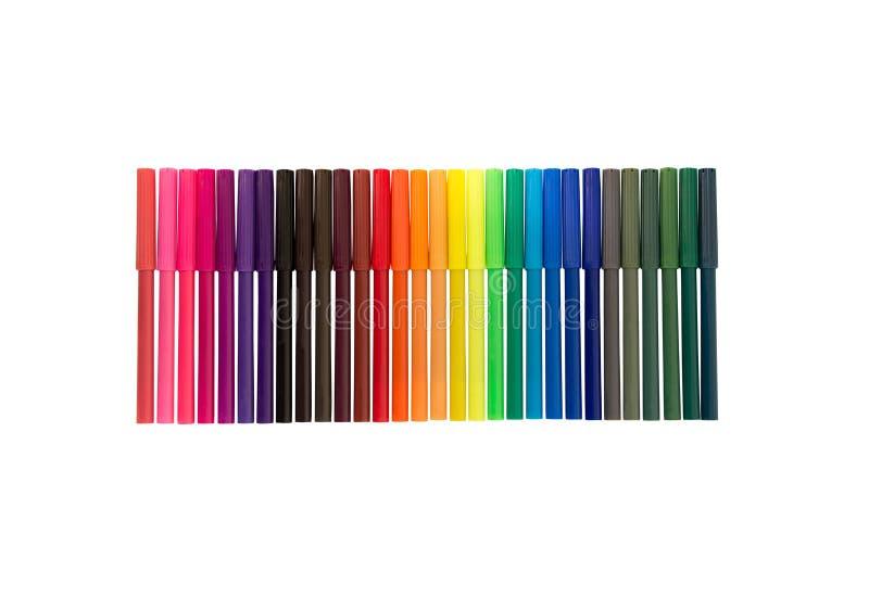 颜色毡尖笔背景 库存例证