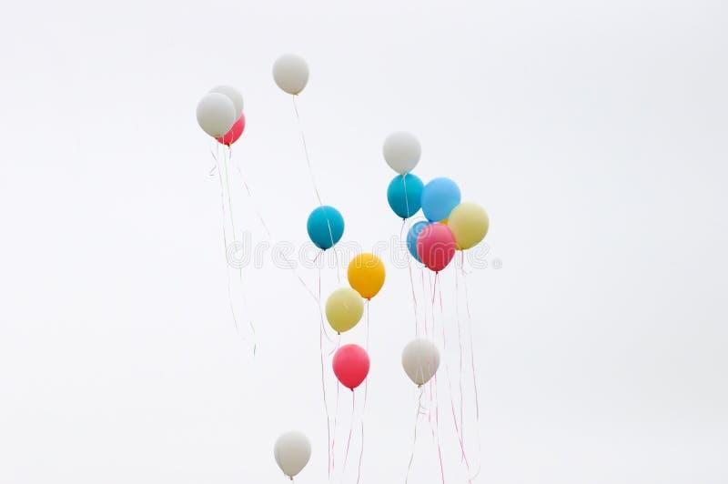 颜色气球 免版税库存图片