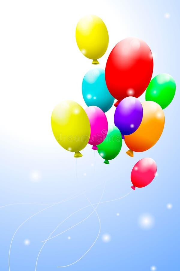 颜色气球 免版税库存照片