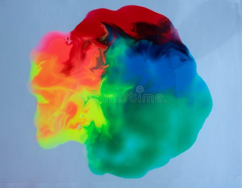 颜色水彩图画抽象背景 向量例证