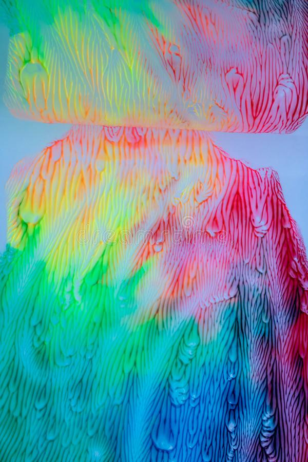 颜色水彩图画抽象背景 库存例证