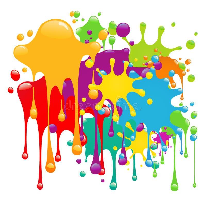 颜色油漆飞溅 向量例证