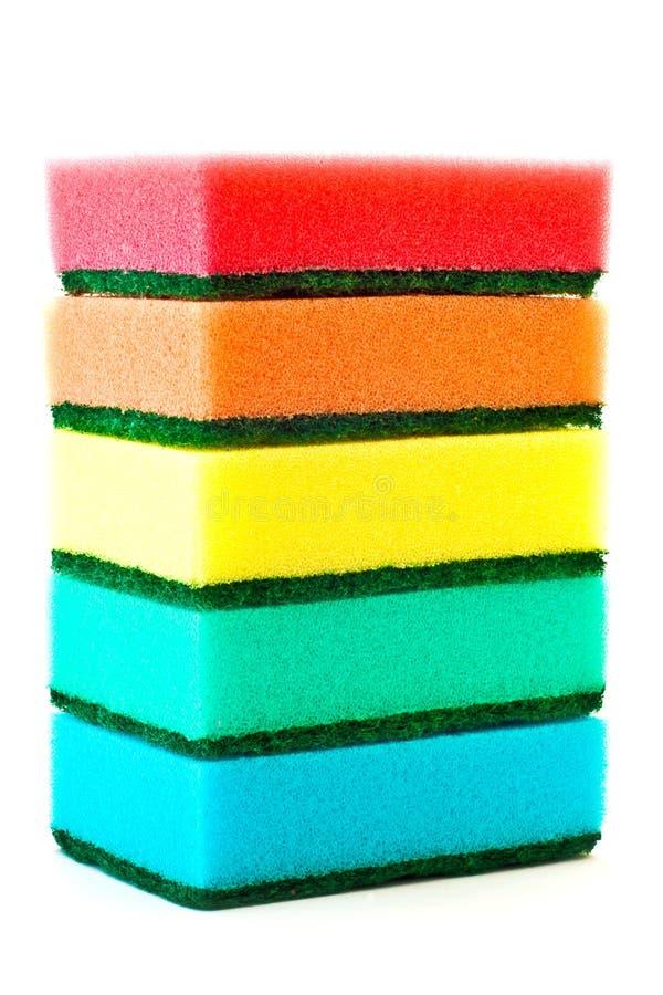 颜色海绵 免版税库存图片
