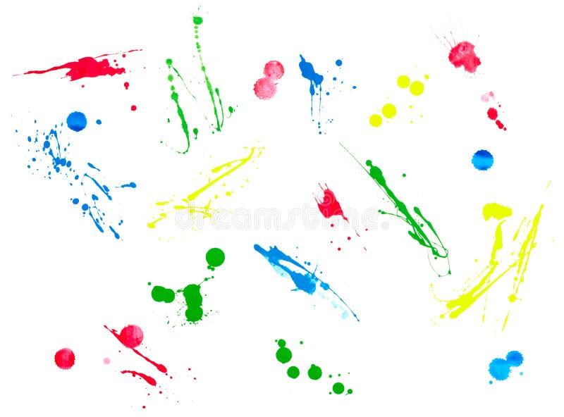 颜色液体飞溅冲程 库存例证
