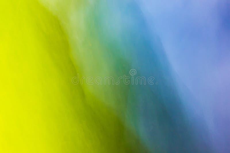 颜色混合的蓝色和黄色创造巨大背景 图库摄影