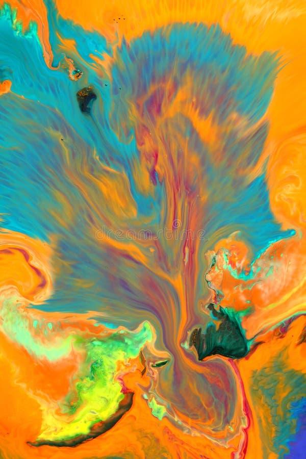 颜色混杂的绘画 图库摄影