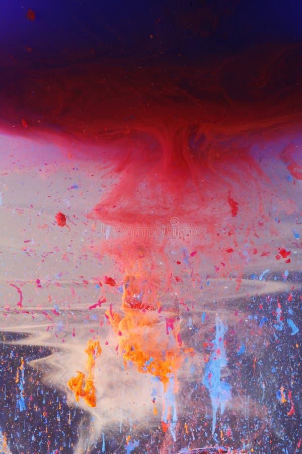 颜色滴水污迹 图库摄影