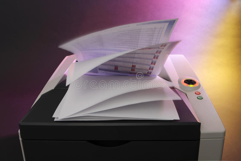 颜色激光打印机 免版税库存照片
