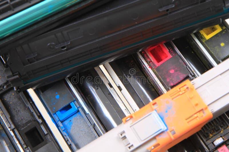颜色激光调色剂 免版税库存照片