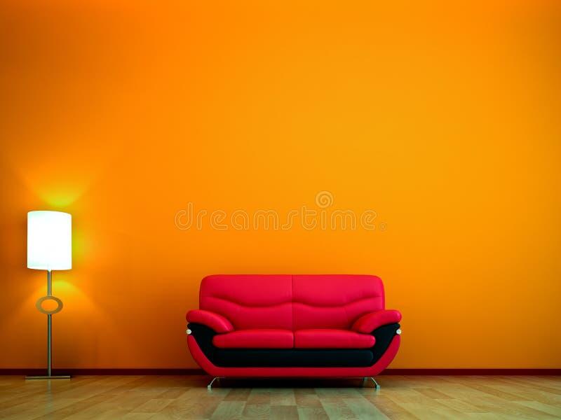 颜色现代橙色树荫 皇族释放例证