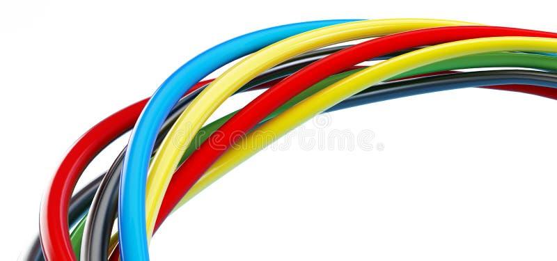 颜色电汇 库存例证