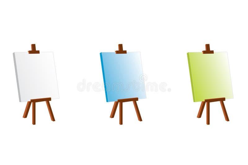 颜色画架 库存例证