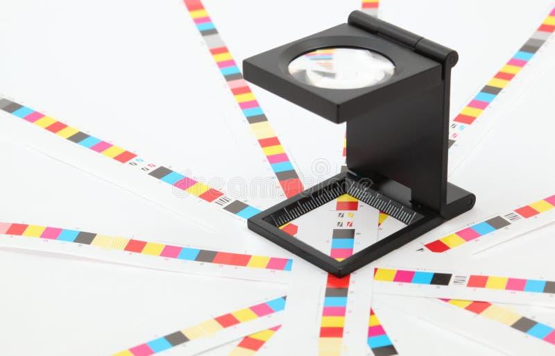 颜色管理。寸镜。 免版税图库摄影