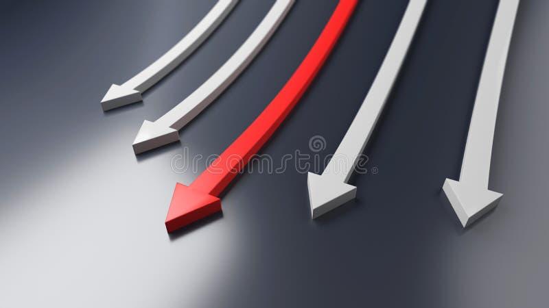 颜色箭头,企业显示 3d查出的黑色橄榄球图象 向量例证