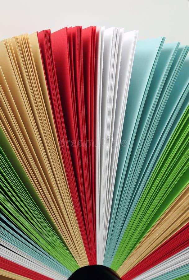 颜色纸张 免版税图库摄影