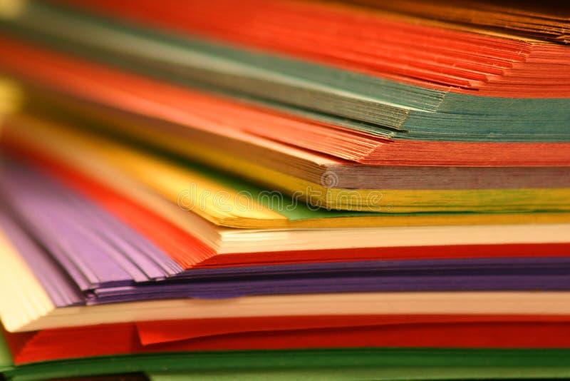 颜色纸张 库存照片