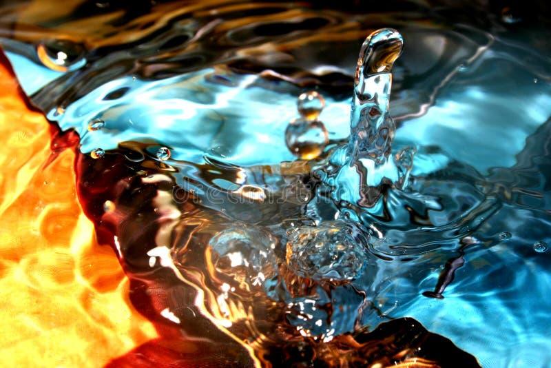 颜色纹理水 免版税库存图片