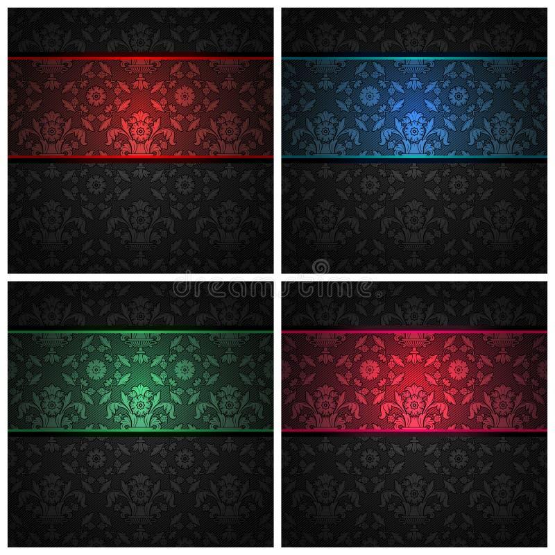颜色织品装饰品丝带被设置的纹理 皇族释放例证