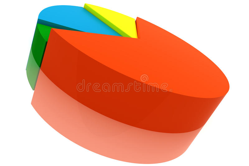 颜色绘制饼 皇族释放例证