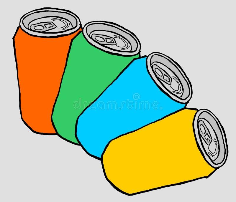 颜色罐头 库存例证