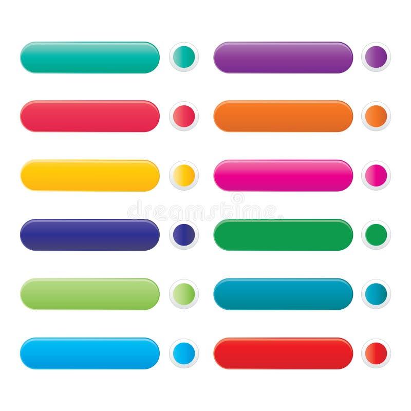 颜色网按钮集合 皇族释放例证