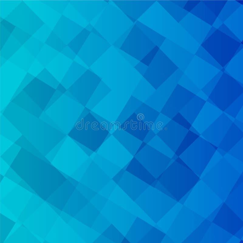颜色蓝色方形的传染媒介背景 免版税图库摄影
