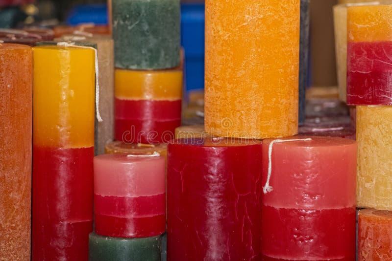 颜色蜡烛 库存图片