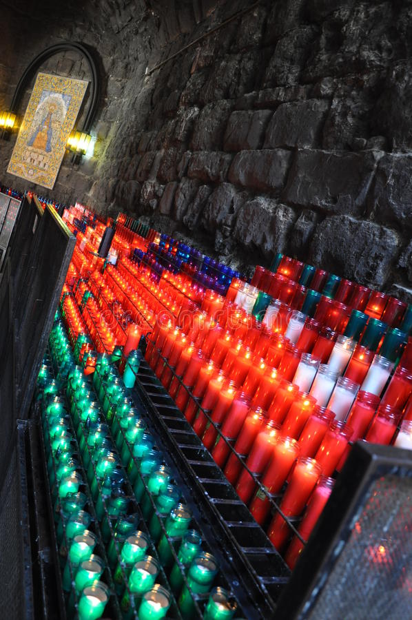 颜色蜡烛 免版税库存照片