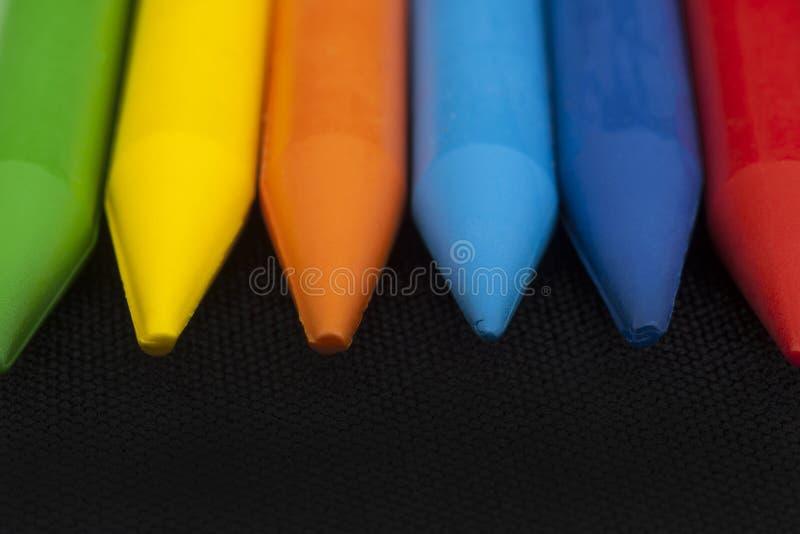 颜色蜡笔 库存图片