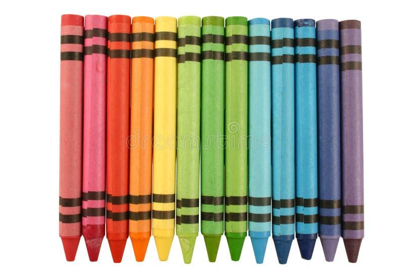 颜色蜡笔 免版税库存图片