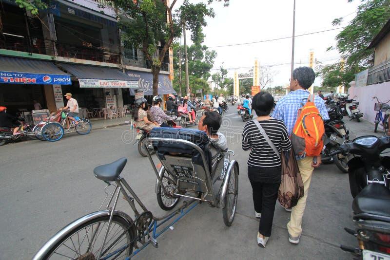 颜色街道视图在越南 库存照片