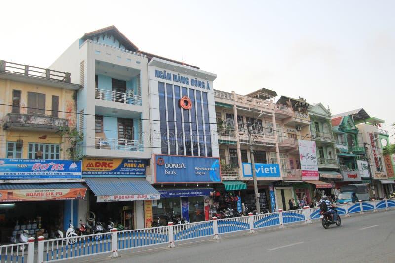 颜色街道视图在越南 免版税库存图片