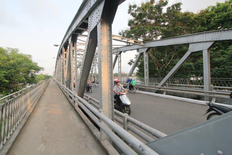 颜色街道视图在越南 免版税库存照片