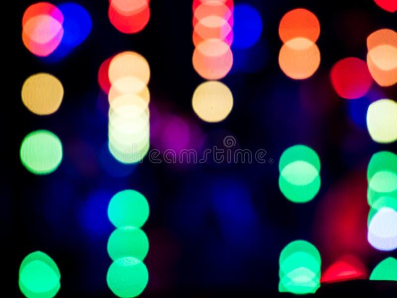 颜色被弄脏的bokeh霓虹灯 免版税库存图片