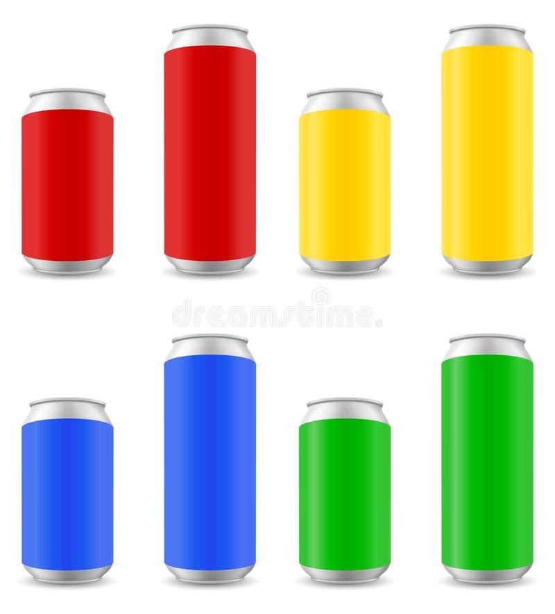 颜色装于罐中啤酒传染媒介例证 皇族释放例证