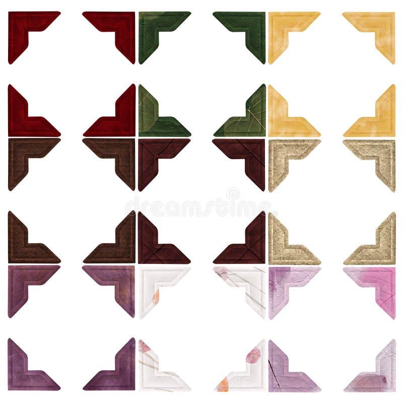 颜色角落照片 向量例证