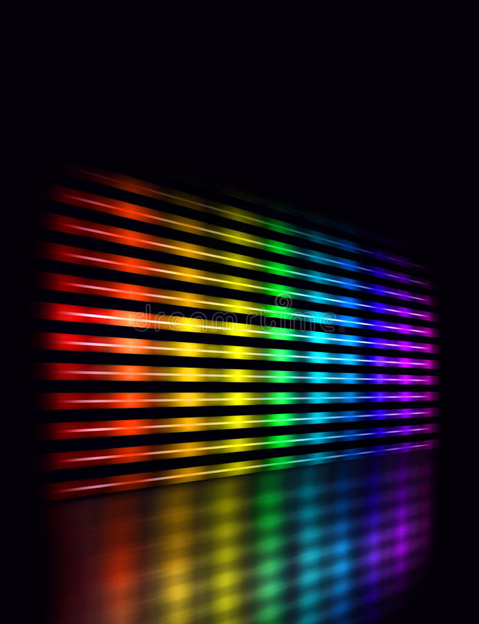 颜色调平器透视图 库存例证