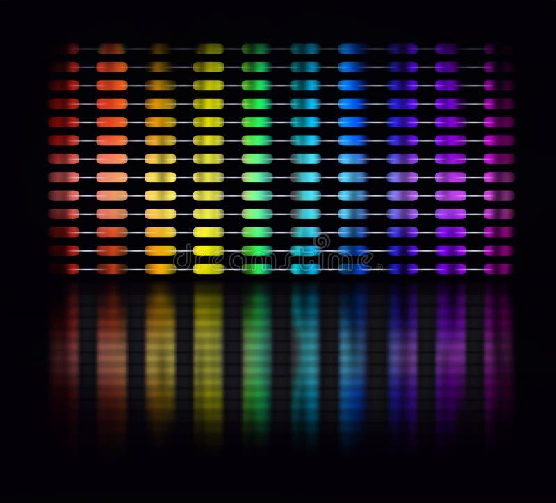 颜色调平器 库存例证