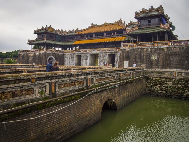 颜色越南-颜色城堡在越南 免版税图库摄影