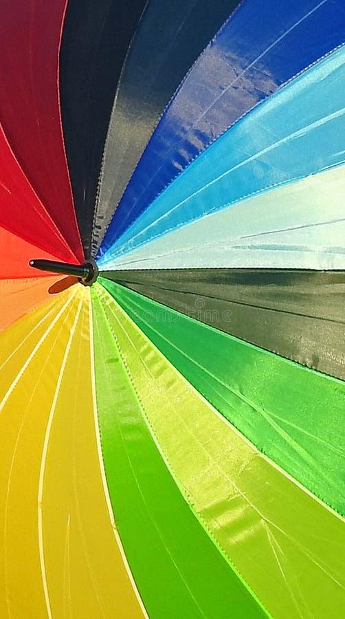 颜色遮阳伞样片  免版税库存照片