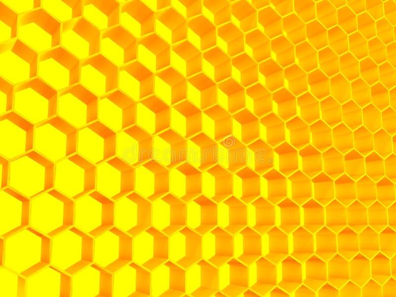 颜色金黄结构 库存例证