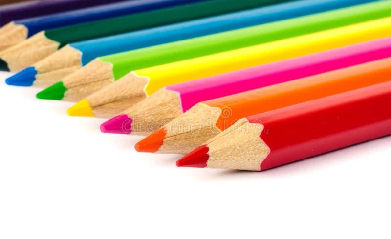颜色铅笔。 图库摄影