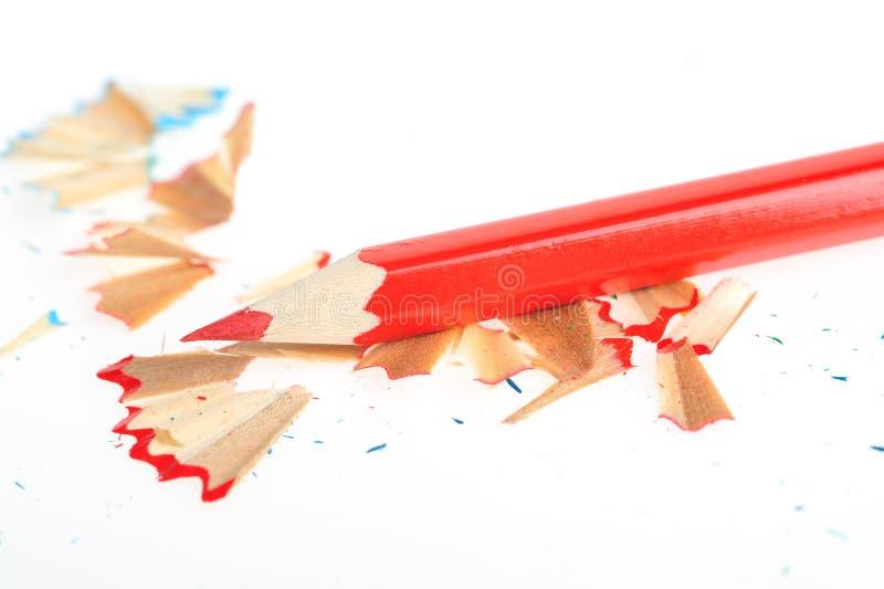 颜色铅笔刀刮 免版税图库摄影