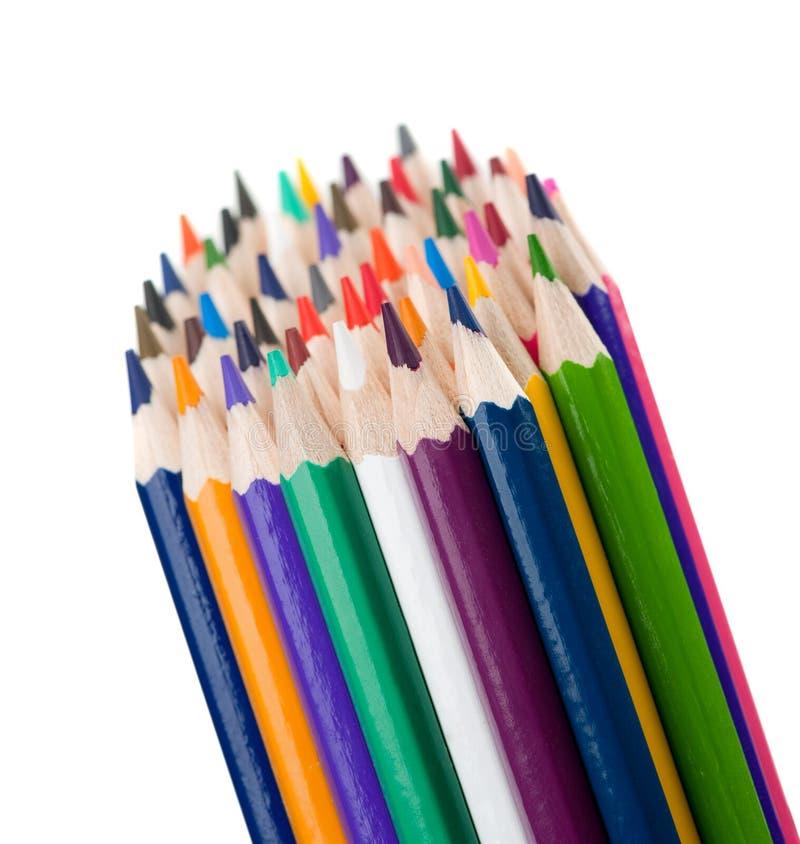 颜色铅笔设置了 免版税库存图片