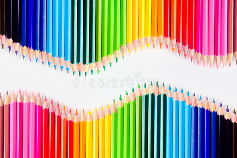 颜色铅笔设置了 库存图片