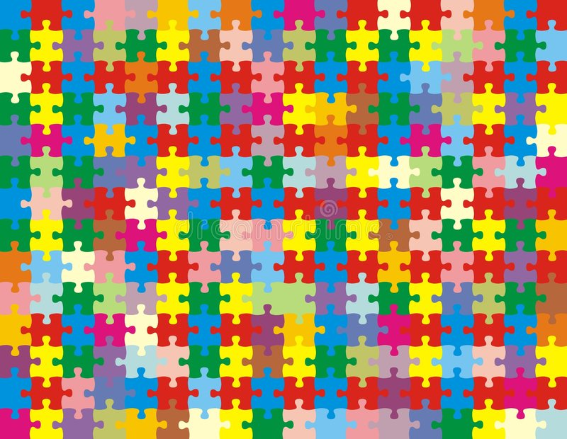 颜色难题 库存例证