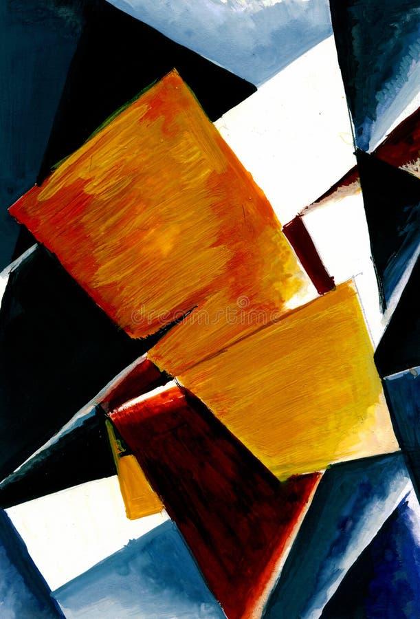 颜色面的抽象构成 免版税库存图片