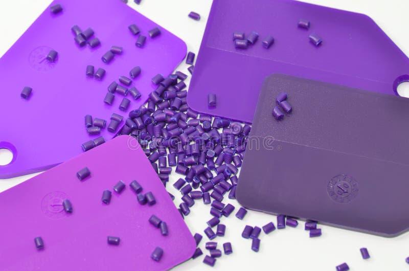 颜色颗粒化塑料范例 免版税库存图片